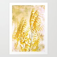 Yellow Branch Art Print