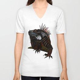 iguana ecru Unisex V-Neck