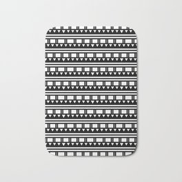 Hopi Stripe - Black and White Bath Mat