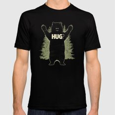 Bear Hug? (dark version) Mens Fitted Tee Black LARGE