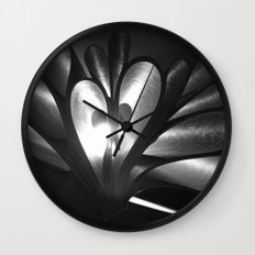 Let your mind blossom in the darkness Wall Clock