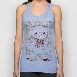 The Adventures of Bear and Baby Bear-Pastry Unisex Tank Top