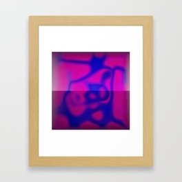 Blue Color Leak Framed Art Print