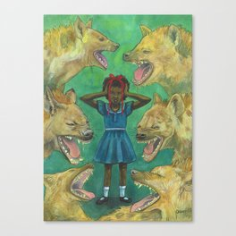 """""""Little Girls Cannot Fly"""" they said Canvas Print"""