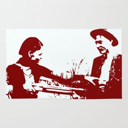Bonnie and Clyde Rug