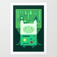 beemo Art Prints featuring Make Believe by badOdds