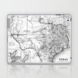 Vintage Map of Texas (1856) BW Laptop & iPad Skin