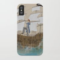 pirate ship iPhone & iPod Cases featuring Pirate by Polina Kovaleva