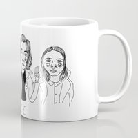 cactei Mugs featuring Peace by ☿ cactei ☿