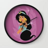 jasmine Wall Clocks featuring Jasmine by LarissaKathryn