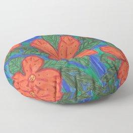 Luau Flower Print Floor Pillow