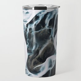 Aerial of an abstract River in Iceland Travel Mug
