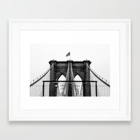 brooklyn bridge Framed Art Prints featuring Brooklyn Bridge by Graham Dunk