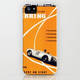 Vintage Sebring Raceway  Poster iPhone Case