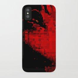 glitch kiss iPhone Case