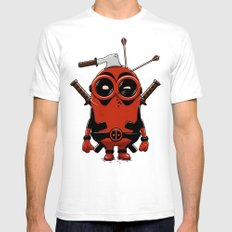 Dead Pool! SMALL White Mens Fitted Tee