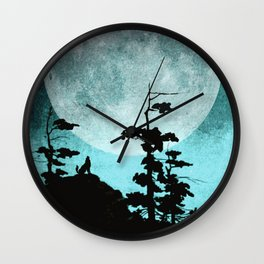 When Night Falls Wall Clock