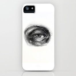 Eye study sketch 1 iPhone Case