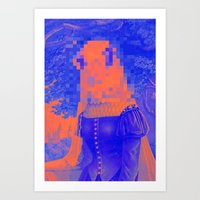 furry Art Prints featuring Furry Streets by Tyler Spangler
