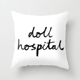 Doll Hospital logo Throw Pillow