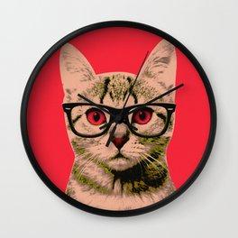 Warhol Cat 4 Wall Clock