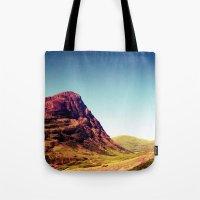 scotland Tote Bags featuring Glencoe, Scotland. by zenitt
