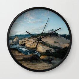 Rugged Pacific City Wall Clock