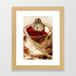Time For Tea & Pearls!  Framed Art Print