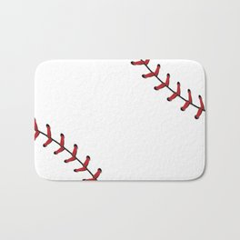 Baseball Laces Bath Mat