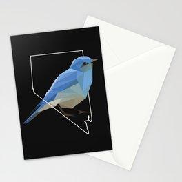 Nevada – Mountain Bluebird (Black) Stationery Cards