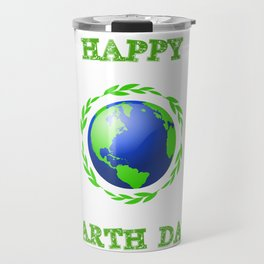 Happy Earth Day Travel Mug