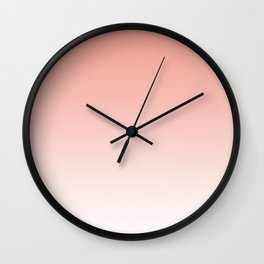 Delicate coral and white. gradient. Wall Clock