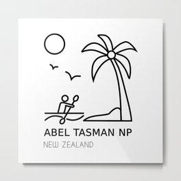 Abel Tasman National Park New Zealand Metal Print