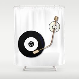 Record And Arm Shower Curtain
