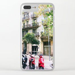 Barcelona scooters Clear iPhone Case