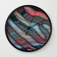agate Wall Clocks featuring Agate by RingWaveArt