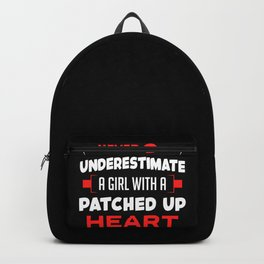 Heart Surgery Survivor Girl Patched Up Heart Women Backpack