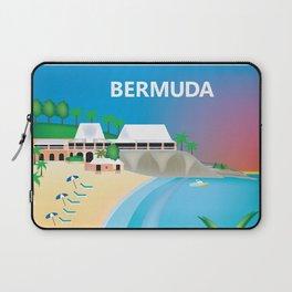 Bermuda - Skyline Illustration by Loose Petals Laptop Sleeve
