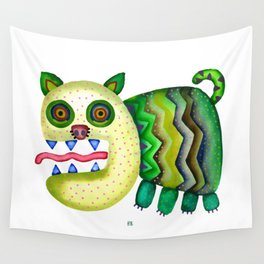 Screaming Kitty Wall Tapestry