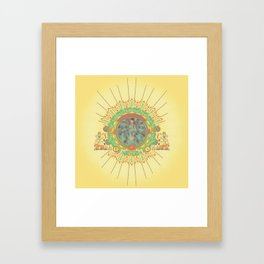 Open Your Conscious.  Framed Art Print