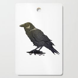 Crow Contemplation Cutting Board