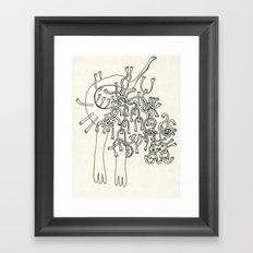 All Hands Framed Art Print