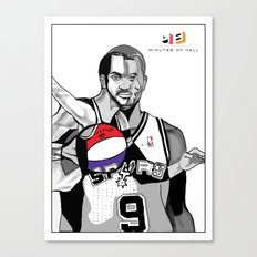 The Cubists Stylings of Tony Parker Canvas Print