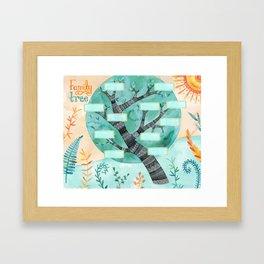 (Fill in Your Own) Family Tree Framed Art Print