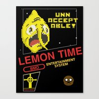 lemongrab Canvas Prints featuring NES Lemongrab by IF ONLY