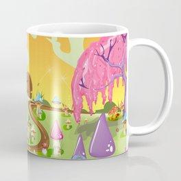 Mushroom Fields Cartoon Landscape Coffee Mug