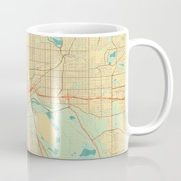 St Paul Map Retro Coffee Mug