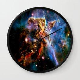 GAlAxY : Mystic Mountain Nebula Wall Clock