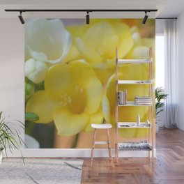 Happy yellow fresias Wall Mural