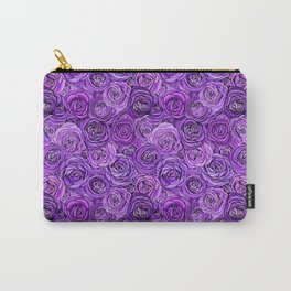 valentines roses in purple / ultraviolet Carry-All Pouch